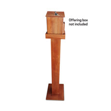 Wood Stand for Offering Box - Oak Brown